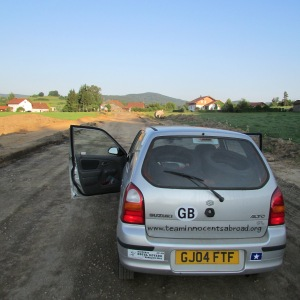 Our first dirt road