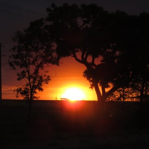 Sunset in Prymorsk